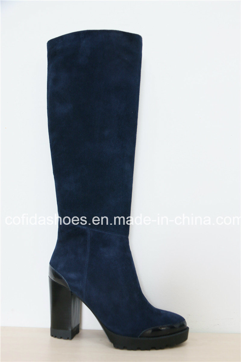 New High Heels Women Leather Boots