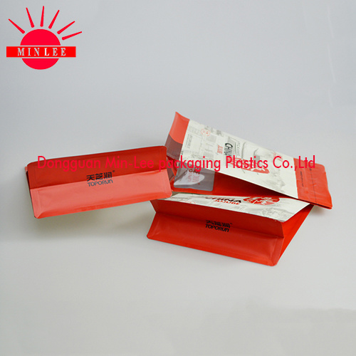 Square Flat Bottom Side Gusset Food Packaging Bag with Food Grade