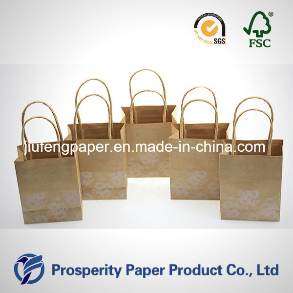Mini Printed Kraft Paper Handbag