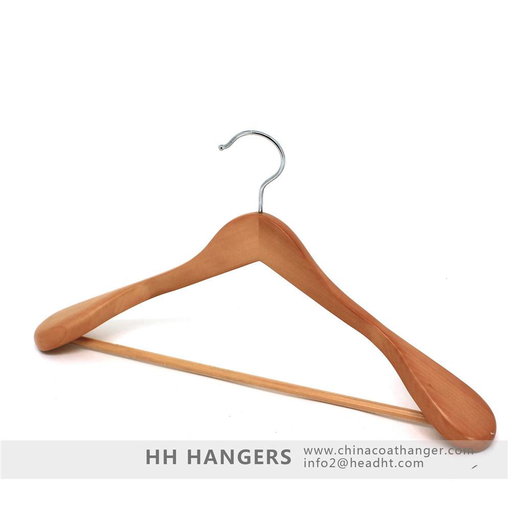 Non Slip Trouser Bar Suit Black Household Anti-Slip Wooden Garment Hanger