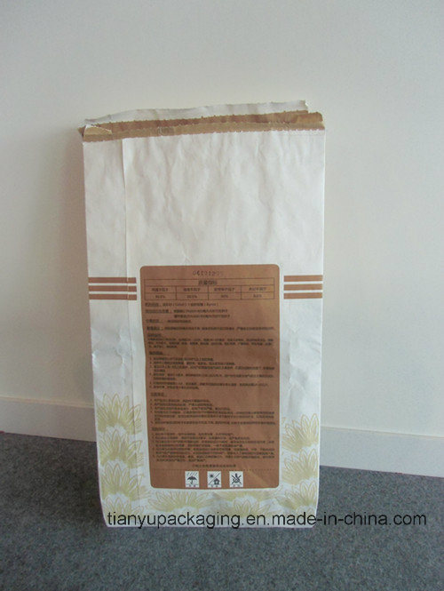 Custom Order Clupak Kraft Paper Bag with Hot Melt Glue at Top