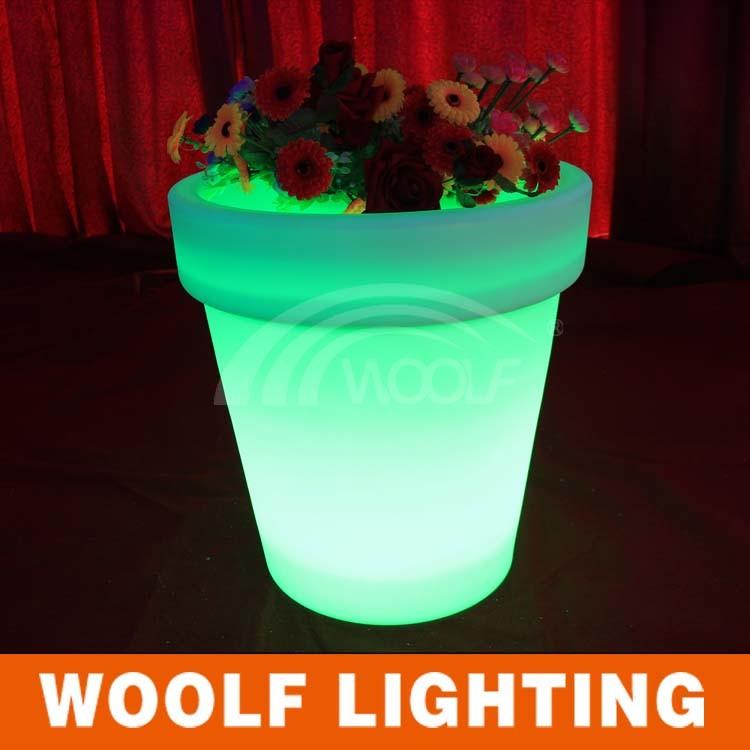 Home Decorative Resin Garden Light up LED Flower Pot