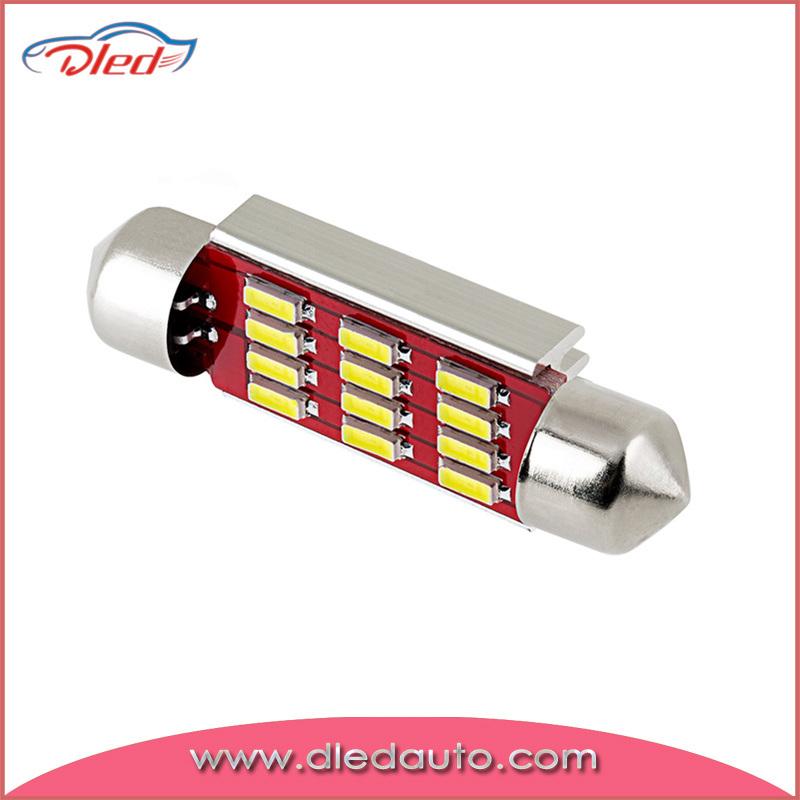 Super Bright Canbus Bulb 4014 12SMD Festoon 36mm LED Reading Light