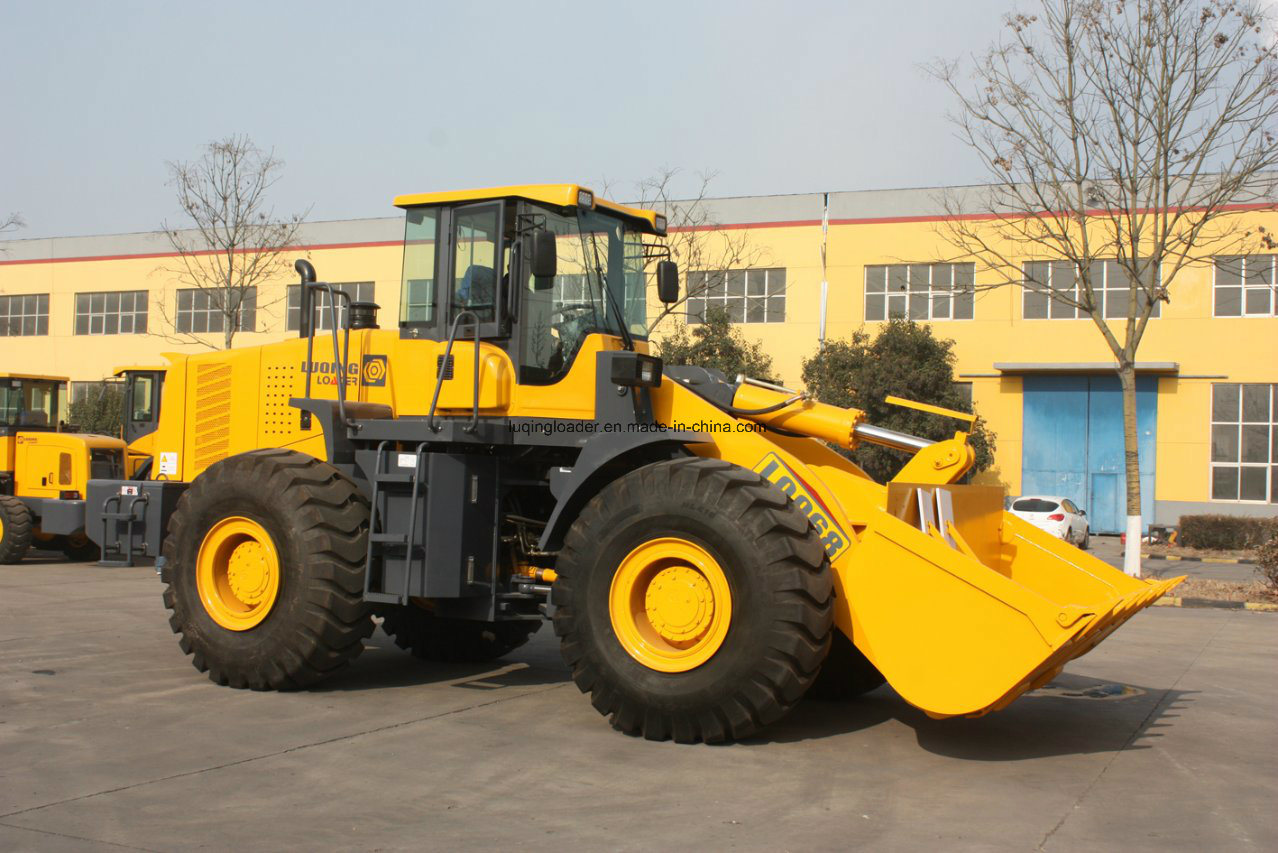 6 Tons Rock Bucket Wheel Loader (LQ968) Heavy Machinery