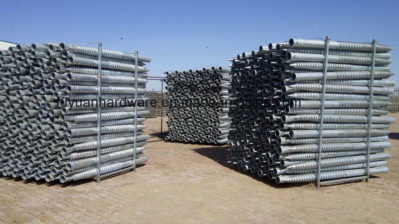 Steel Green Fence Used Galvanized Ground Screw