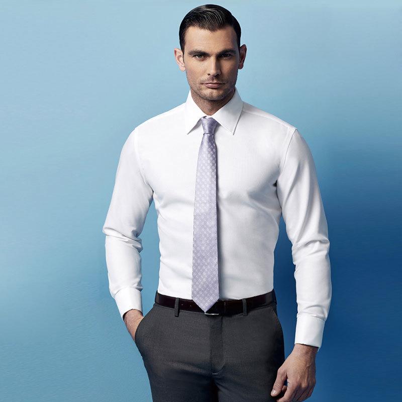 Latest Design White Cotton Man Dress Shirt
