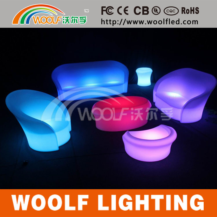 Plastic Modern Hotel LED Restaurant Sofa Bar Furniture