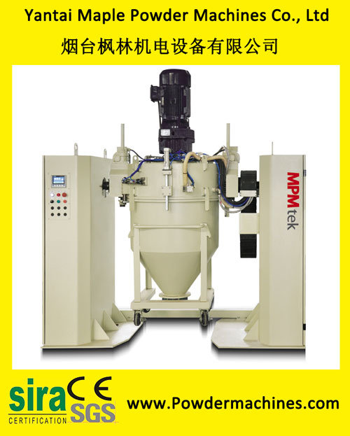 Container Mixer for Powder Coatings Processing with High Mixing Evenness