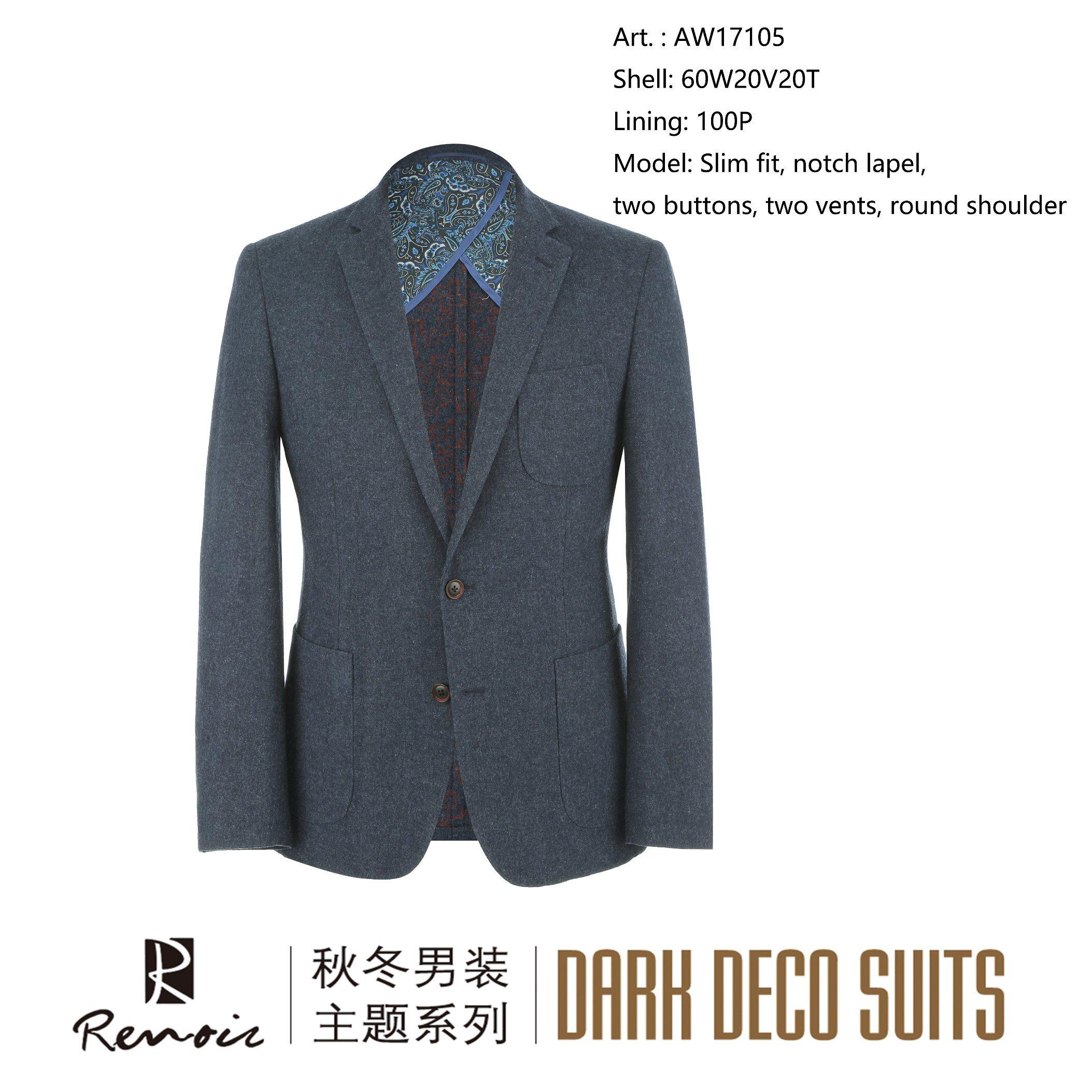 OEM Slim Fit Round Shoulder Men′s Blazer