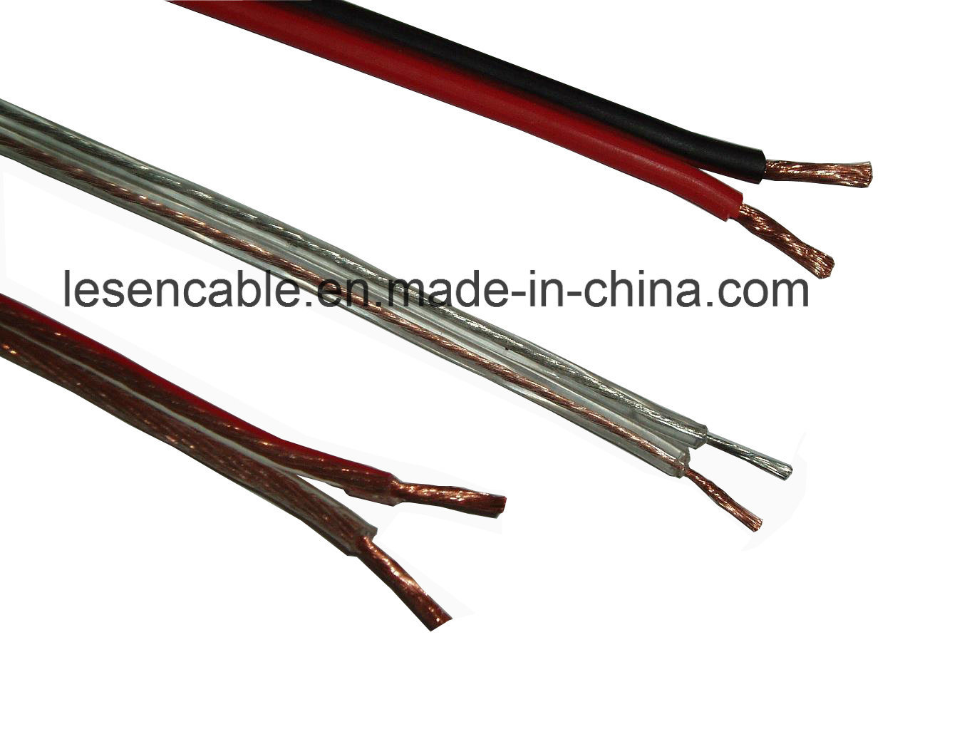 Transparent Speaker Cable for Audio Device/Speaker/Electrical Equipment, CE Certified