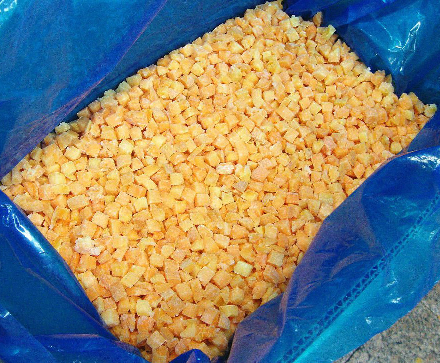 Frozen Apricot Dices or IQF Apricot Dices (with skin)