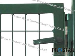 Fence Gate, Iron Gate, Garden Gate, Rectangular Post Gate, Single Wing Gate