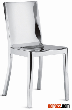 Restaurant Dining Patio Furniture Steel Metal Hudson Navy Chair