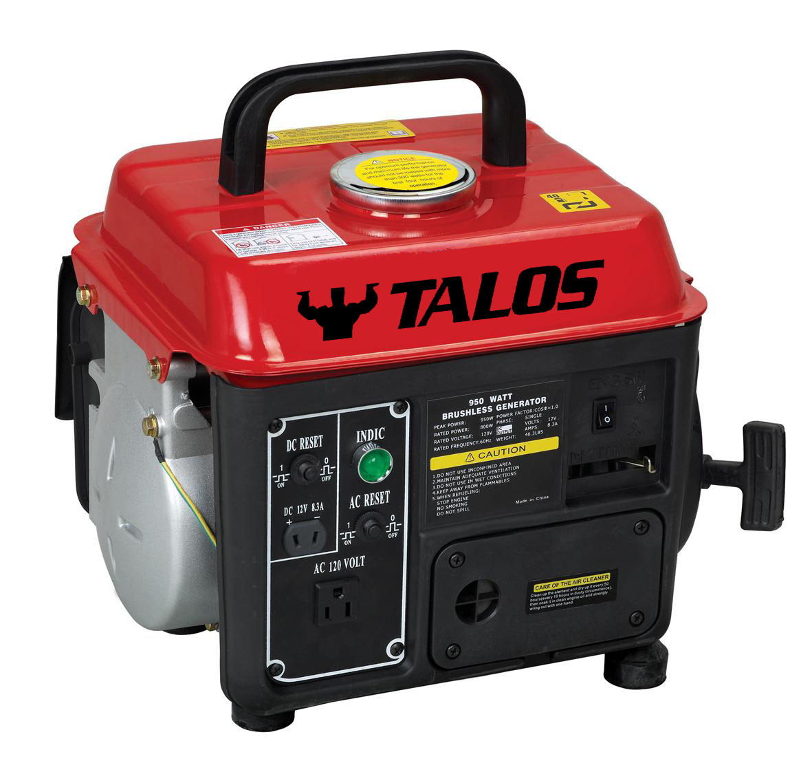 650 W Small Gasoline Generator / 0.8kVA Generator for Home Use