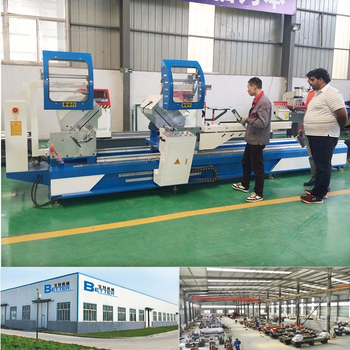 Double Head Mitre Cutting Saw Aluminum Windows Making Machine