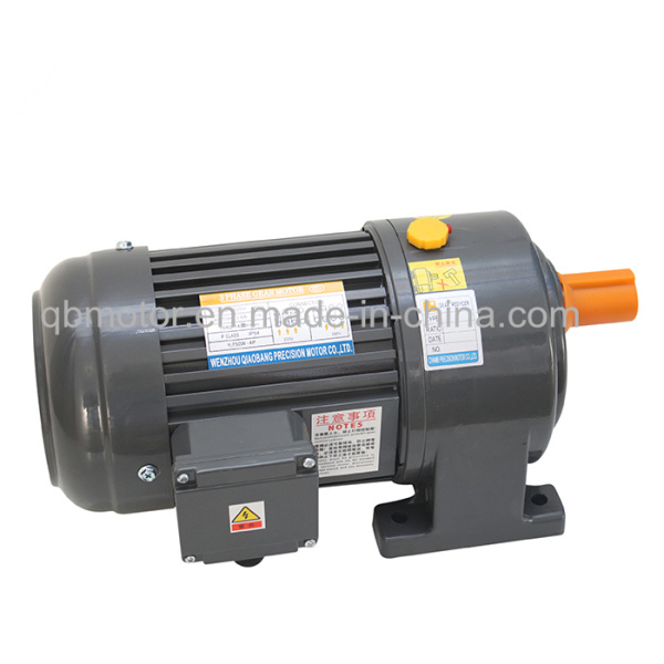 0.1kw Shaft Dia 22mm Horizontal Geared Motor Small AC Gear Motor