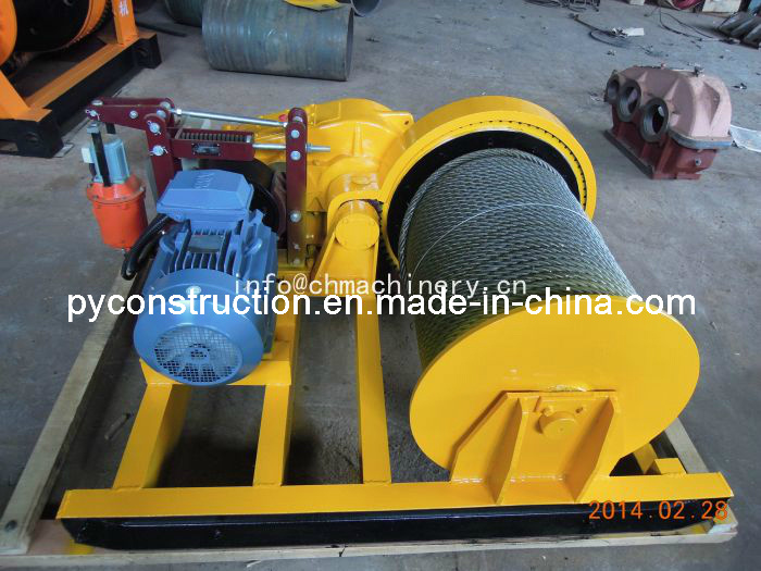 Lift Winch for Loading and Assembling Mounted on Frame