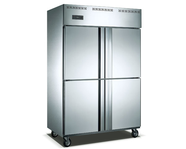 1000L Stainless Steel Upright Refrigerator for Food Storage