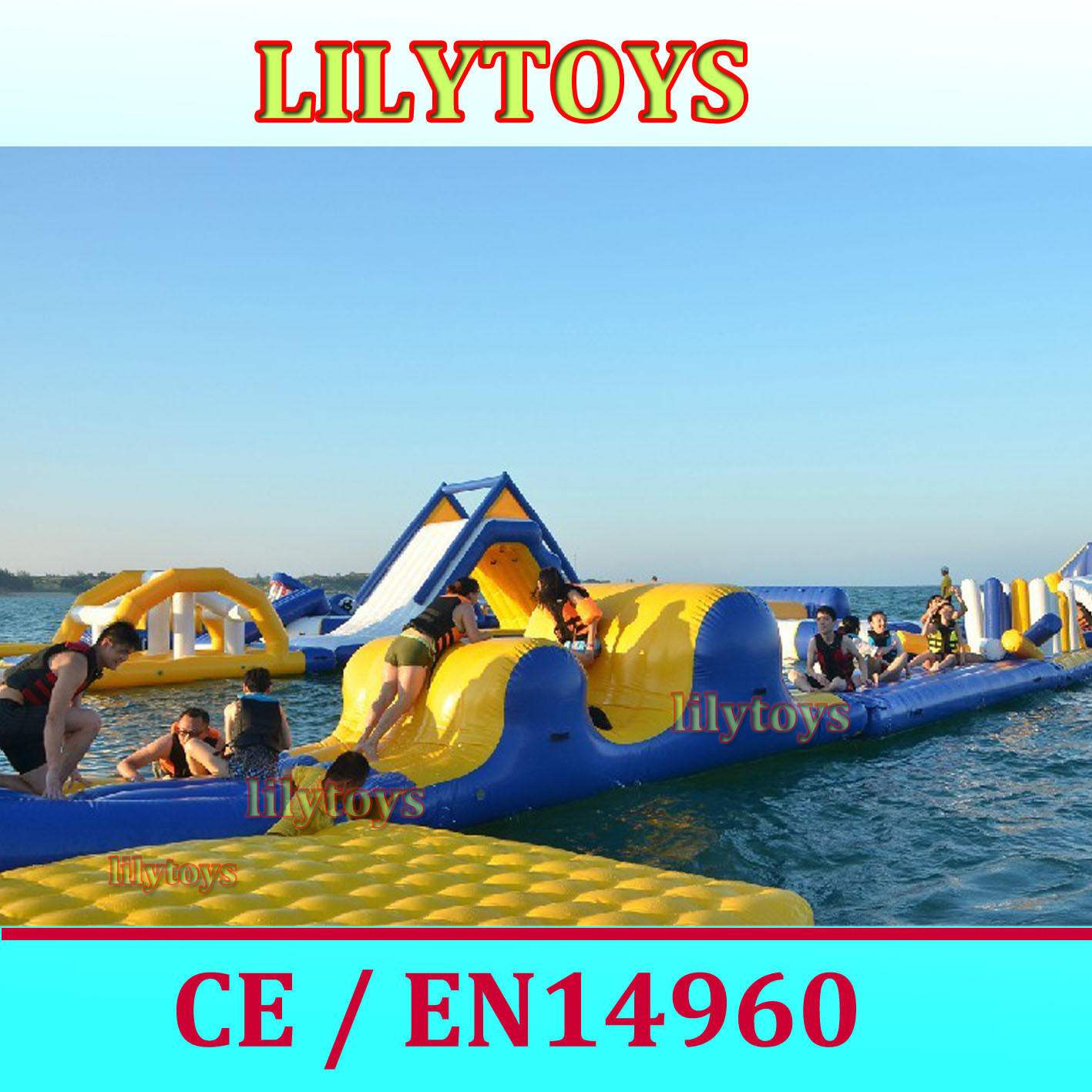 China 2014 Hot New Inflatable Water Park Inflatable Water Games