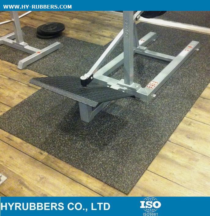 Interlock Gym Use Rubber Floor Tile, Dog Bone Safety Rubber Floor Recycled