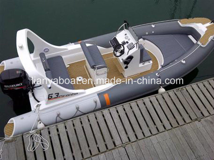 Liya 20 Feet China Rib Military Boat Inflatable Army Boat with Outboard Motor