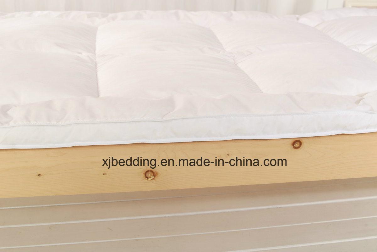Microfiber Fabric Duck Feather Mattress Topper