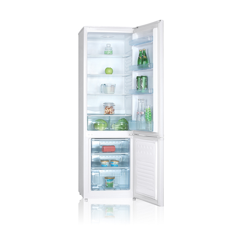 White Color Double Home Saving Energy Fridge Freezer