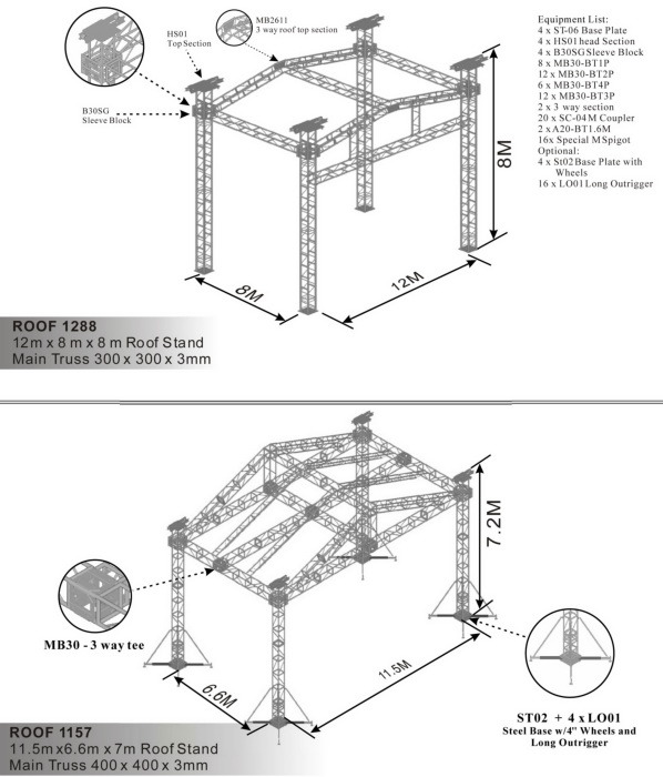 Truss System Roof 1288 Roof 1157 China Truss Frame