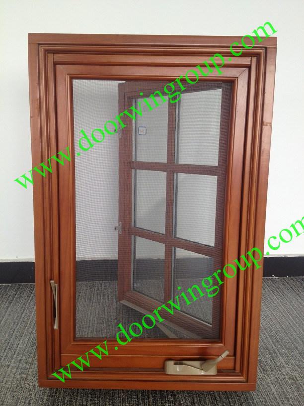 images of European Design Wood Aluminium Casement Window