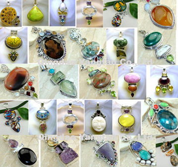 Tibetan Pendants on Genuine Gemstone Tibetan Silver Pendants   China Moonstone Malachite