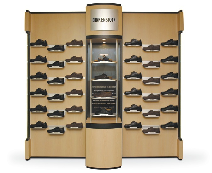 China shoe display center china rack display for Sneaker wall display