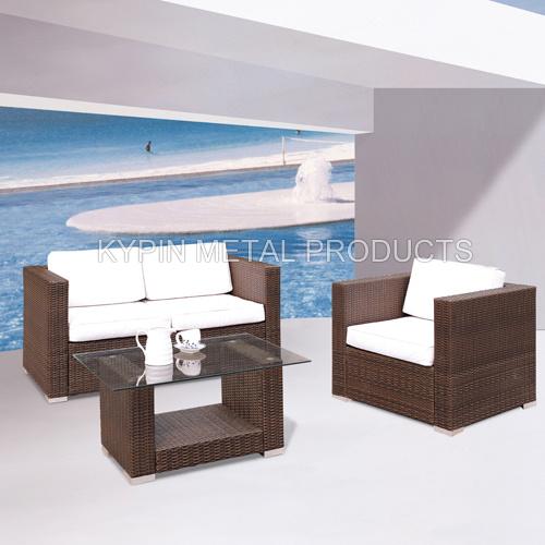 China Outdoor Furniture Wicker Furniture Wicker Sofa Set