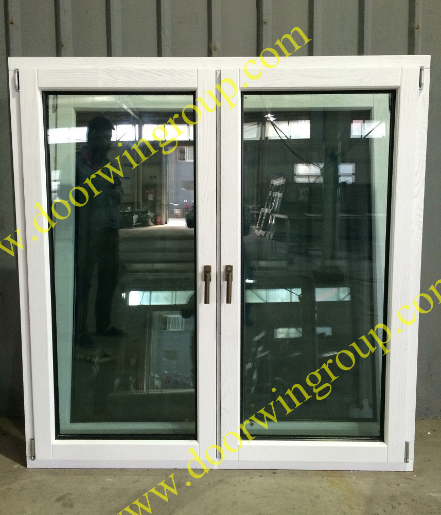 Europe Style Solid Wood Aluminum Window White Color Painting
