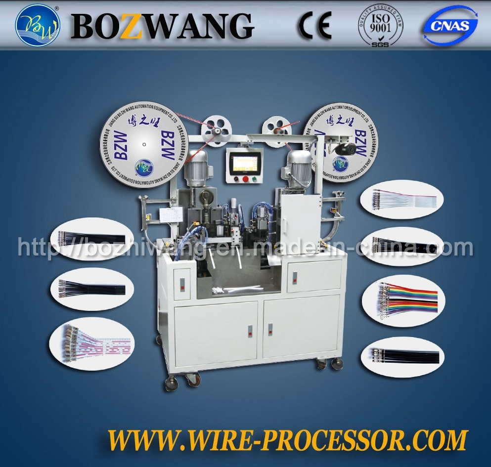 Double-End Flat Cable/Wire Terminal Crimping Machine