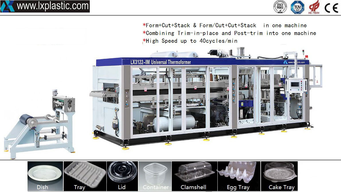 Full Automatic 2in1/3in1/4in1 Thermoforming Machine with Rule-Steel-Knife