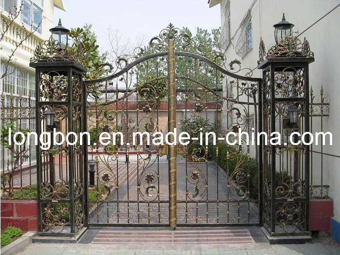 China simple wrought iron gate lb i g
