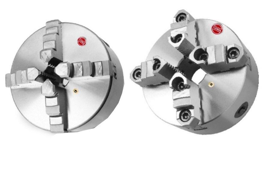 4-Jaw Self-Centering Chucks, DIN 6350, Cast Iron Body