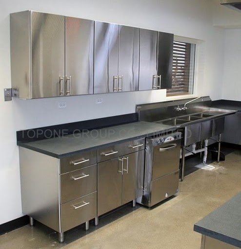 China stainless steel kitchen cabinets china stainless for Metal kitchen cabinets