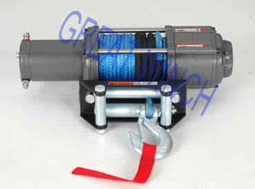 Synthetic Rope of UTV Electric Winch with 4000lb Pulling Capacity