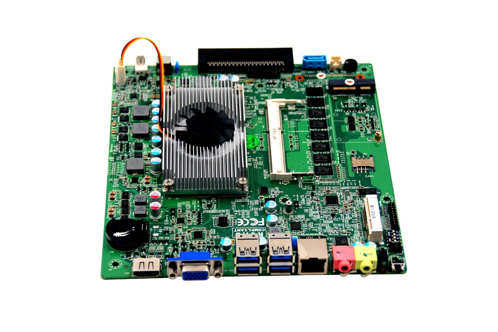 OPS Mini Itx Motherboard Haswell-U Embedded Mainboard with Mini-Pcie for 3G, WiFi Board for Car PC