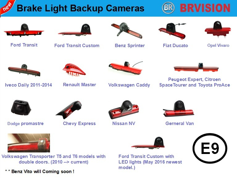 IP69k Waterproof Rating Brake Light Camera for Volkswagen Transporter