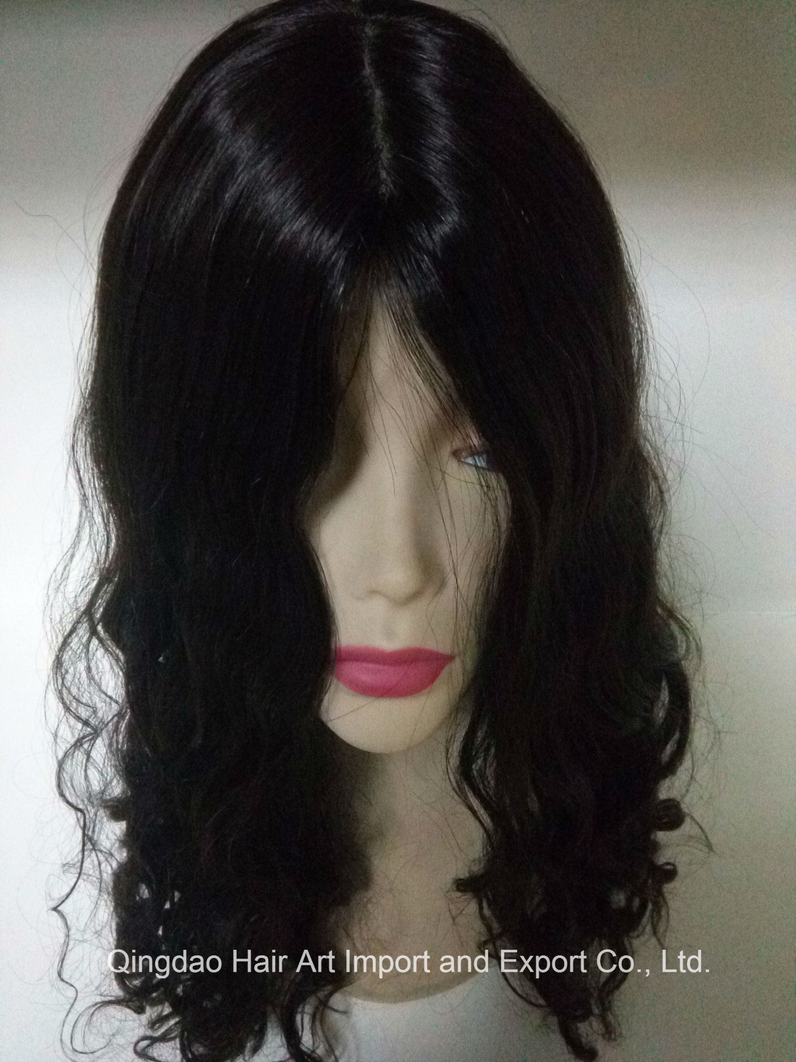 "24"" Mongolian Virgin Hair Silk Top Body Wave Jewish Wig"