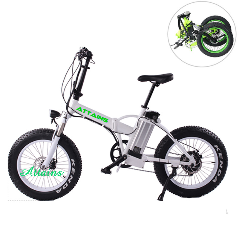 48V 500W 20′′ Foldable E Bike Folding Fat Tire Beach Snow Electric Bike