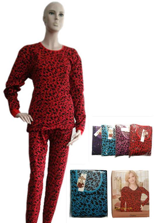 Lady′s Underwear Polyester Printing Pajiamas Keep Warm