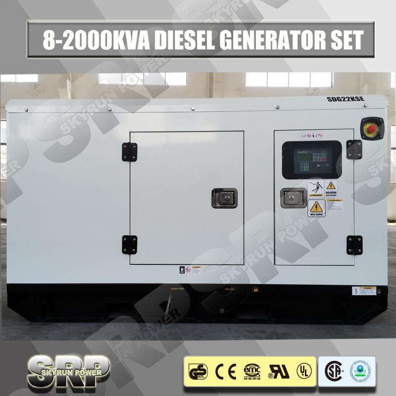20kVA Silent/Soundproof Electric Home Diesel Generator Generating Set (SDG20KS)
