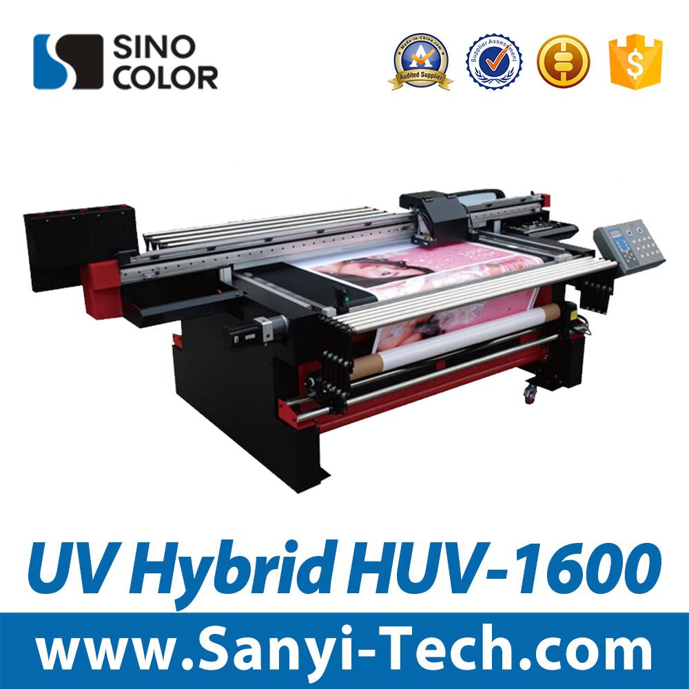 Large Format Printer UV Hybrid Printer Sinocolorhuv-1600 Inkjet Flatbed Printer Digital Printing Machine Wide Format Printer Roll to Roll and Flatbed Printer