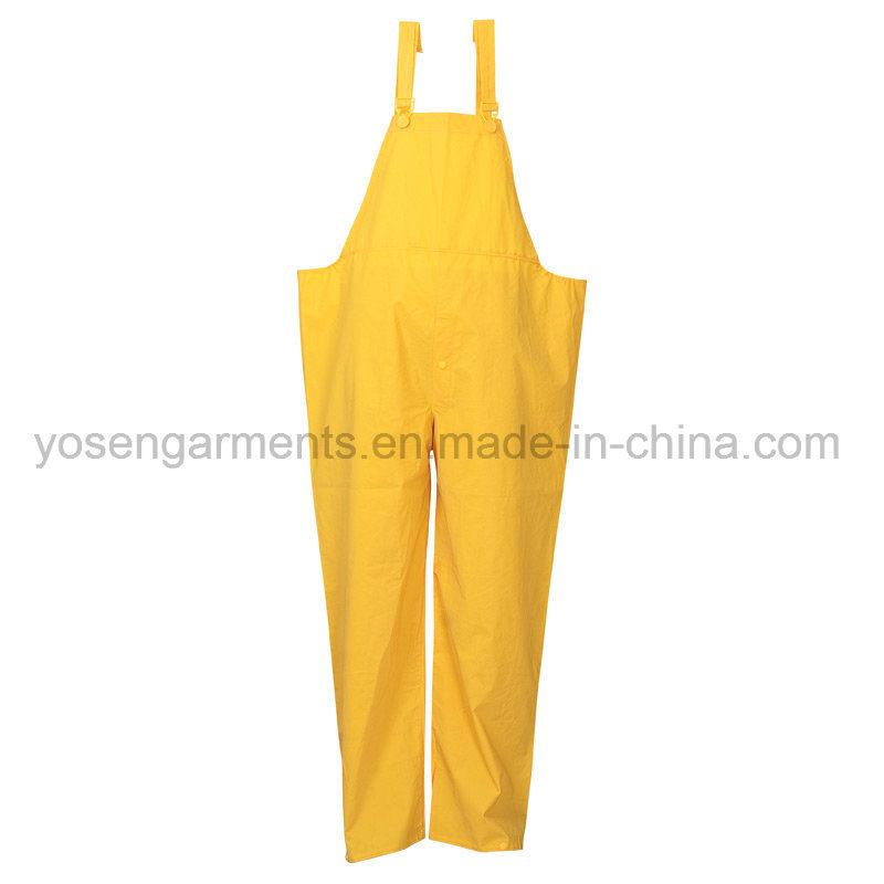 PVC Waterproof Outdoor Clothing Workwear Raincoat Rainwear Rain Suit (RWB01)