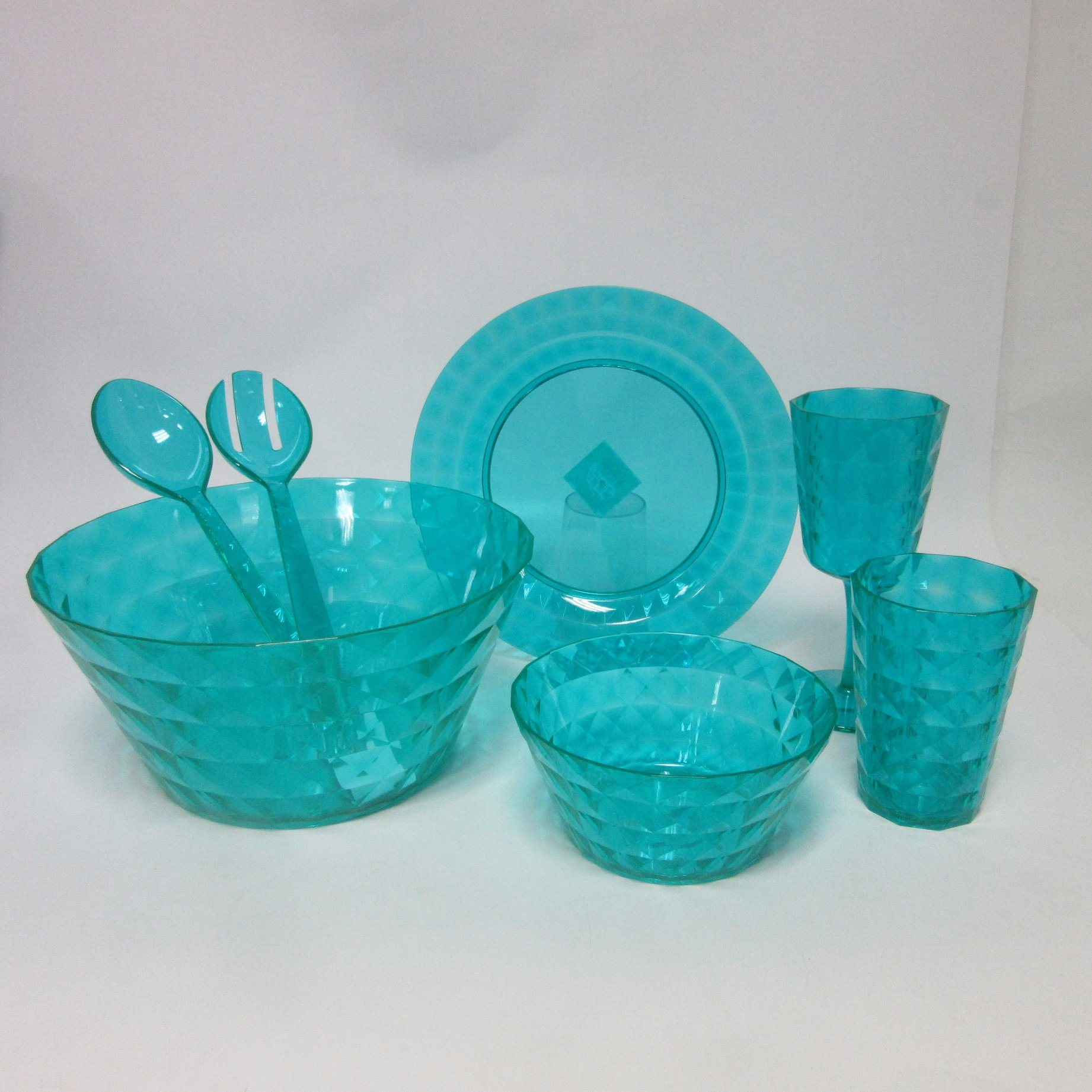 PS Salad Bowl Plastic Big Bowl Tableware Colored