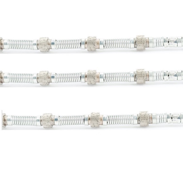 11.5mm/11mm/10.5mm Diameter Diamond Wire with Spring Reinforced for Quarry of Marble, Travertine and Limestone