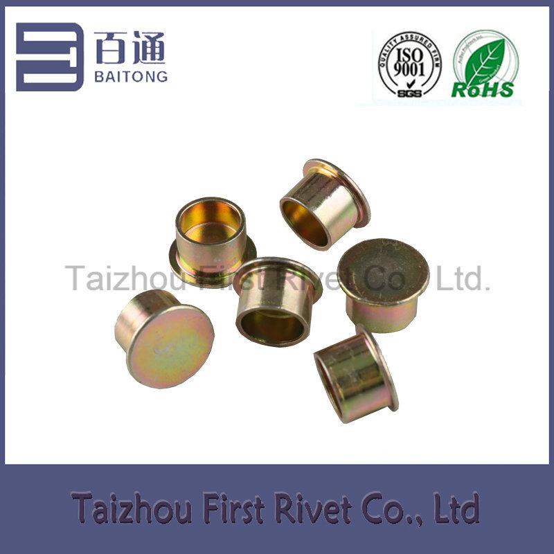 12.55X10mm Zinc Plated Flat Head Semi Tubular Steel Clutch Rivet